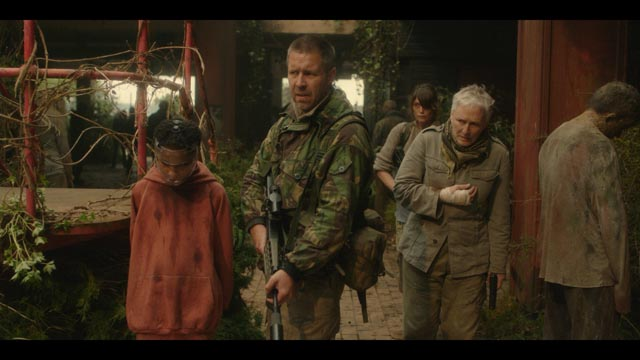 Malanie leads Paddy Considine, Gemma Arterton and Glenn Close into the zombie-infested city in Colm McCarthy's The Girl with All the Gifts (2016)