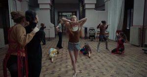 Susie (Dakota Johnson) demonstrates her supernatural dance powers at the Tanz Akademie in Luca Guadagnino's Suspiria (2018)