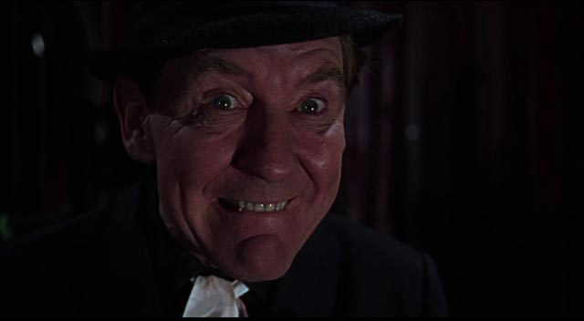 Burgess Meredith as as the cheerfully sinister Dr. Diabolo in Freddie Francis' Torture Garden (1967)
