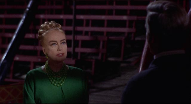 Monica Rivers (Joan Crawford) is the ruthless owner of a circus plagued by murder in Jim O'Connelly's Berserk (1967)