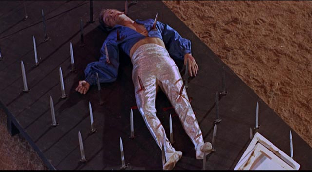 Maybe Frank Hawkins (Ty Hardin) should have used a net after all in Jim O'Connelly's Berserk (1967)