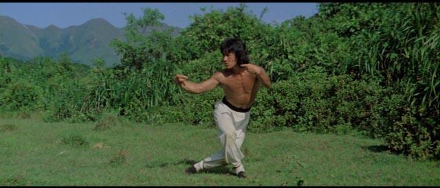 Jackie Chan as Wong Fei-hung practices drunken kung-fu in Yuen Woo-ping's Drunken Master (1978)