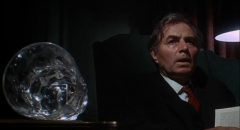 Barrister John Sawyer (James Mason), not so subtly dominated by drink in Pierre Jouve's Stranger in the House (1967)