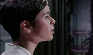 Geraldine Chaplin as Sawyer's estranged daughter Angela in Pierre Jouve's Stranger in the House (1967)