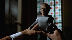 A madman crafts deadly dolls to exact revenge on his enemies in Roy Ward Baker's Amicus anthology Asylum (1972)