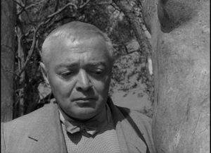 Peter Lorre as Julius O'Hara in John Huston's Beat the Devil (1953)