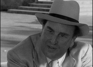 Robert Morley as Peterson in John Huston's Beat the Devil (1953)