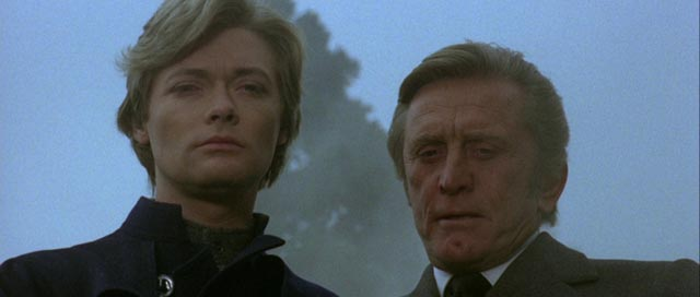 Industrialist Kirk Douglas and his demonic son (Simon Ward) in Alberto De Martino's Holocaust 2000 (1977)