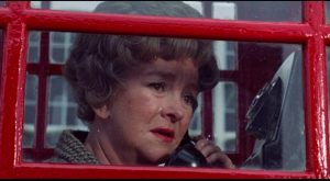 Actress June Buckridge (Beryl Reid) suspects she's about to be written out of her TV role in Robert Aldrich's The Killing of Sister George (1968)