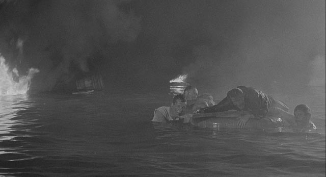 Disaster potentially saves the lives of the prisoners among the freighter's crew in Bernhard Wicki's Morituri (1965)