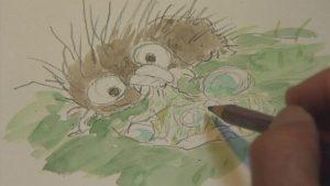 Miyazaki creating a new character: Boro the Caterpillar