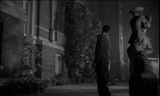 The skeptical Holden (Dana Andrews) begins to believe in Jacques Tourneur's Night of the Demon (1957)