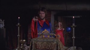 Andrew Prine is committed to ritual magic in Bruce Kessler's Simon, King of the Witches (1971)