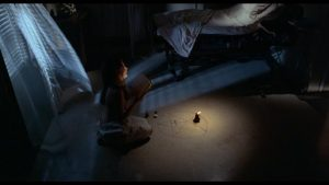 Paula Clarkson (Jacqueline Bissett) turns Satanic magic back against the Elys in Paul Wendkos' The Mephisto Waltz (1971)