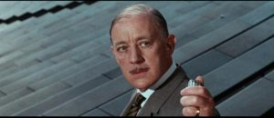 Who better to play Quiller (George Segal)'s Berlin contact than Alec Guinness? in Michael Anderson's The Quiller Memorandum (1966)