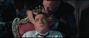 Neo-Nazi Oktober (Max von Sydow) tries to break Quiller (George Segal) with drugs in Michael Anderson's The Quiller Memorandum (1966)