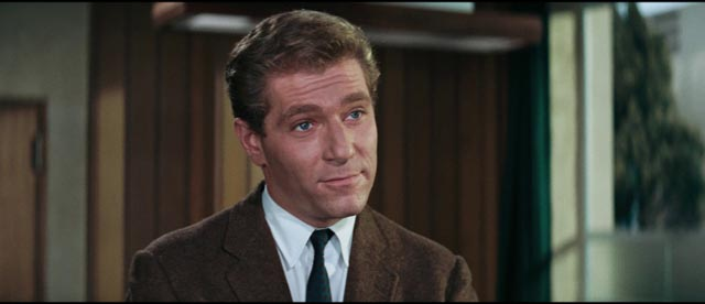 Quiller (George Segal) is glib and a little smug as her tried to ferret out the Neo-Nazis in Michael Anderson's The Quiller Memorandum (1966)