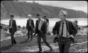 The boys arrive on a mysterious island which will transform them in Bertrand Mandico's The Wild Boys (2017)