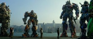 Making human characters seem very small in Michael Bay's Transformers series (2007-17)