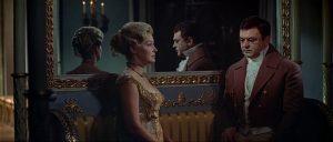 Pierre (Sergei Bondarchuk) becomes engaged to Helene (Irina Skobtseva) in Sergei Bondarchuk's War and Peace (1966-67)