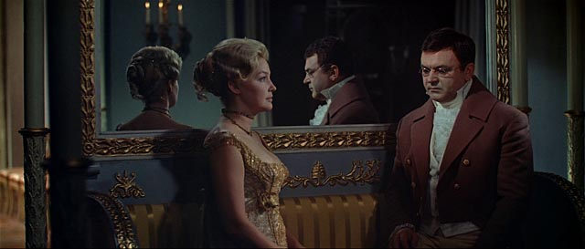 Pierre (Sergei Bondarchuk) becomes engaged to Helene (Irina Skobtseva) in Sergei Bondarchuk's War and Peace (1966-67)