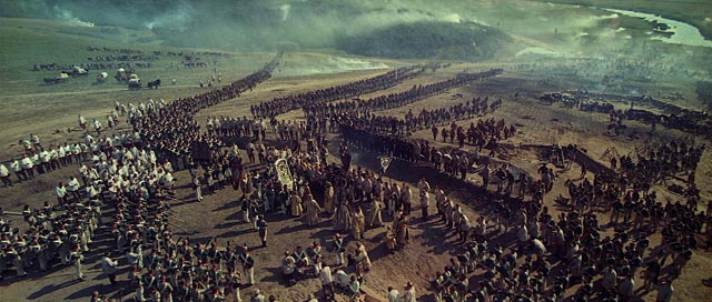A cast of thousands: epic scale achieved with entirely practical means in Sergei Bondarchuk's War and Peace (1966-67)