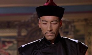 Christopher Lee in racial drag as sadistic crime lord Chung King in Anthony Bushell's The Terror of the Tongs (1961)