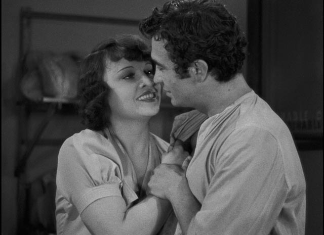 Aurélie (Ginette Leclerc) is swept off her feet by the handsome shepherd (Charles Moulin) in Marcel Pagnol's The Baker's Wife (1938)