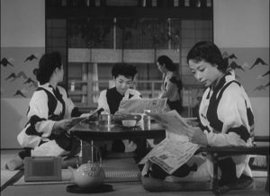 Middle class women relax in one another's company at a spa in Ozu Yasujiro's The Flavor of Green Tea Over Rice (1952)
