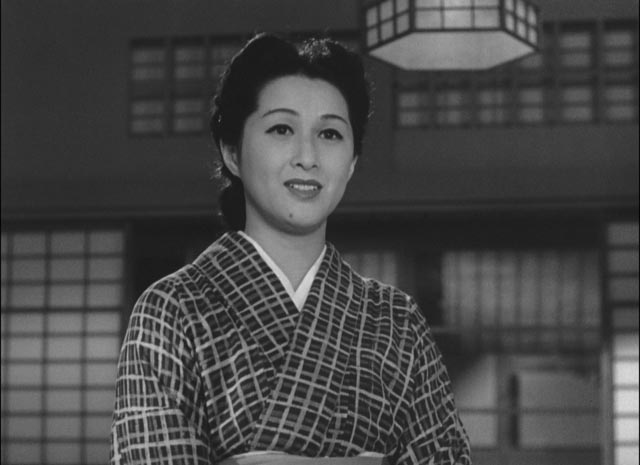 Traditional social attitudes are important to Taeko (Michio Kogure) in Ozu Yasujiro's The Flavor of Green Tea Over Rice (1952)