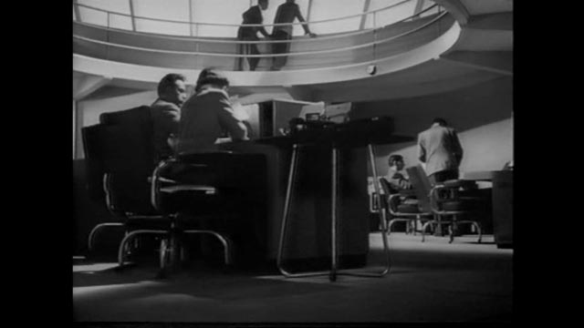 The M-7 project's control room in Anthony Asquith's The Net (1953) evokes memories of William Cameron Menzies' Things to Come (1936)