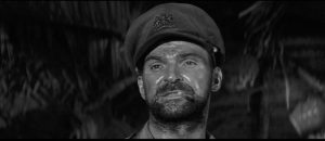 Stanley Baker as Captain Langford in Val Guest's Yesterday's Enemy (1959)
