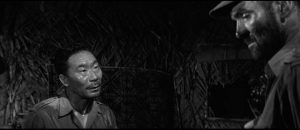 Philip Ahn as the urbane yet ruthless Japanese officer Yamazaki in Val Guest's Yesterday's Enemy (1959)