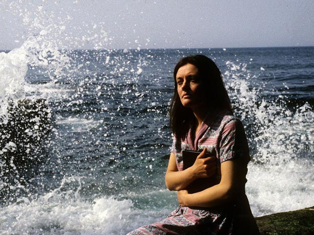 Greta Thorburn (Gerda Stevenson), mother and poet, revels in the power of Nature in Margaret Tait's Blue Black Permanent (1992)