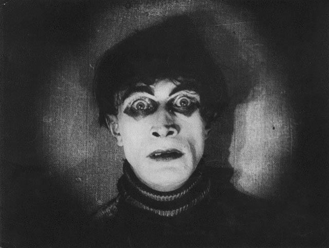 Cesare (Conrad Veidt), the murderous somnambulist in Robert Wiene's The Cabinet of Dr. Caligari (1920)