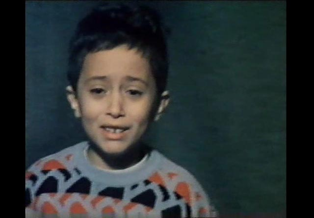 A young traumatized boy in Abbas Kiarostami's documentary Homework (1989)
