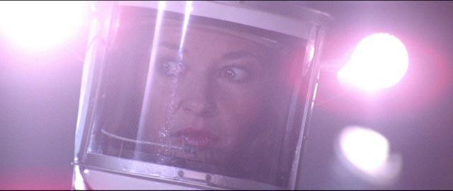 Horror icon Stephanie Beacham realizes she's in trouble in Norman J. Warren's Inseminoid (1981)