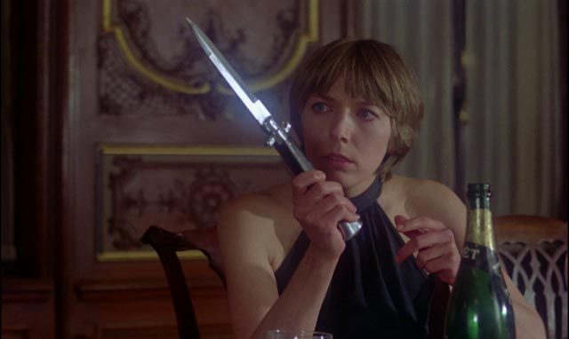 A not-very-subtle image of castrating femininity: Sally Faulkner in Norman J. Warren's Prey (1977)