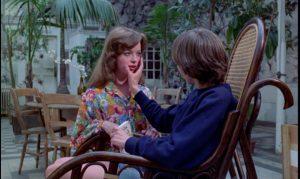 Dark secrets bind Jessica (Glory Annan) and Josephine (Sally Faulkner) in Norman J. Warren's Prey (1977)