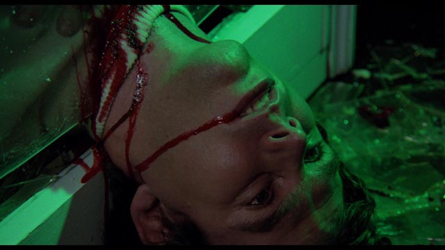 A nod to Argento with elaborate deaths and saturated colours in Norman J. Warren's Terror (1978)