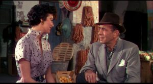 The final happy meeting between Harry Dawes (Humphrey Bogart) and Maria Vargas (Ava Gardner) before tragedy strikes in Joseph L. Mankiewicz's The Barefoot Contessa (1954)
