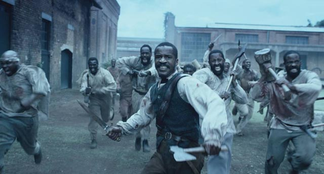 Writer-director Nate Parker as Nat Turner leading the slave uprising in The Birth of a Nation (2016)
