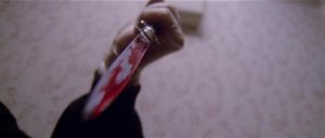 The killer uses the giallo weapon of choice in Lucio Fulci's The New York Ripper (1982)