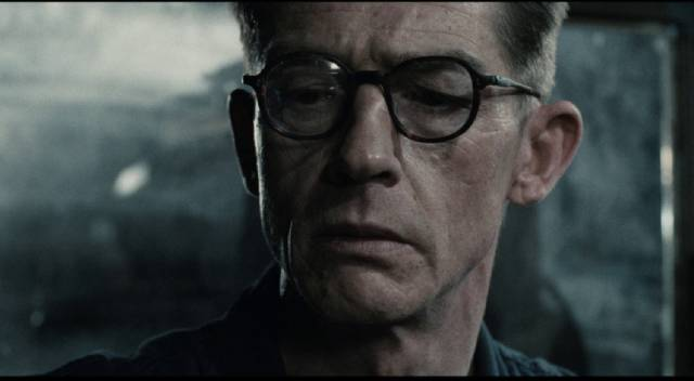 Winston Smith (John Hurt) toils away at rewriting history in the Ministry of Information in Michael Radford's 1984 (1984)
