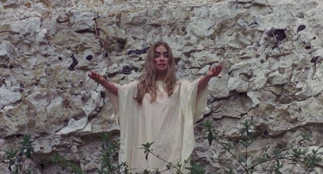 Angel Blake (Linda Hayden) relishes evil in Piers Haggard's The Blood on Satan's Claw (1971)