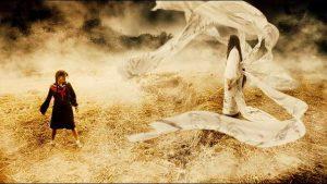 Saya (Ji-hyun Jun) confronts the demon Onigen (Koyuki) in Chris Nahon's Blood: the Last Vampire (2009)