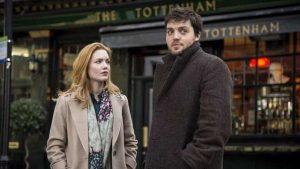 Tom Burke and Holliday Grainger as J.K. Rowling's detectives in C.B. Strike (2017-18)