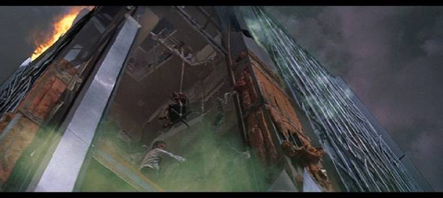 One of Albert Whitlock's matte shots in Mark Robson's Earthquake (1974)