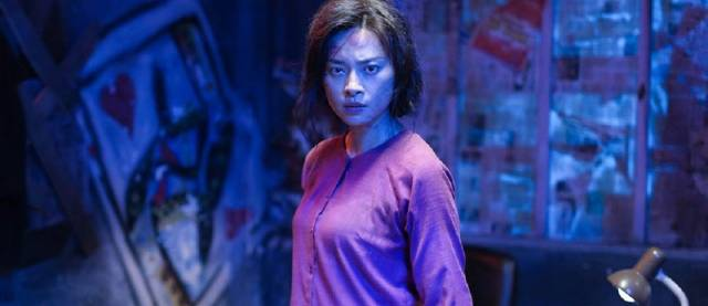 Kidnappers provoke Hai Phuong (Veronica Ngo)'s anger in Le Van Kiet's Furie (2019)