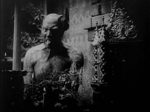 Director Benjamin Christensen plays the Devil himself in his film Haxan (1922)